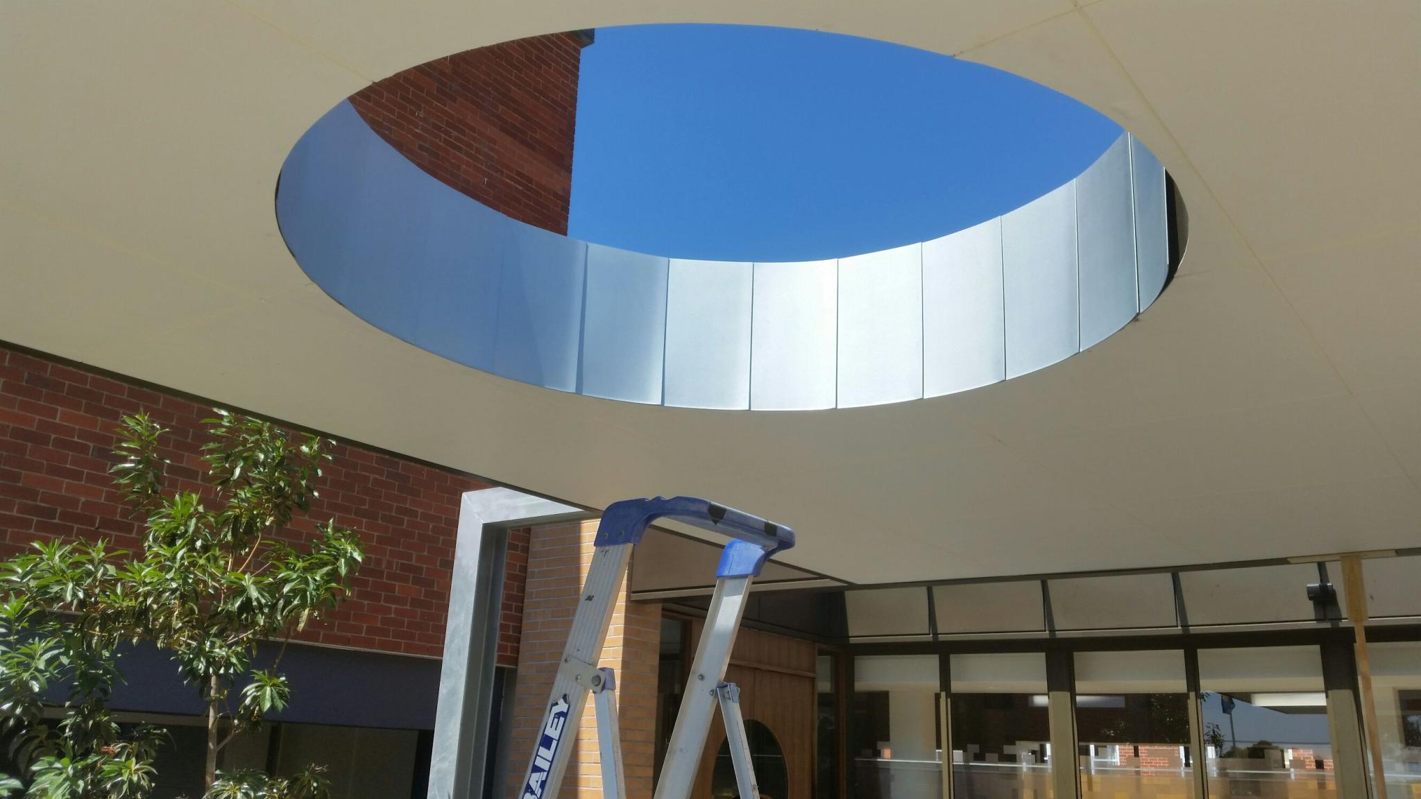 Curved Zinc Flat Lock Panel Architectural Cladding